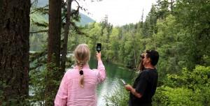 Anna Glynn & Peter Dalmazzo field recording Echo Lake med