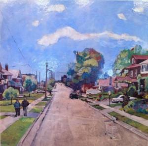"Oshawa 'Roger's Street' 2012 24"" x 24"""