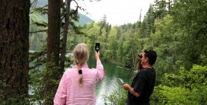 Anna Glynn & Peter Dalmazzo field recording Echo Lake med