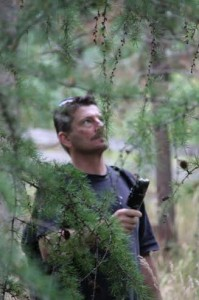 Peter recording at Bishop Wild Bird Sanctuary