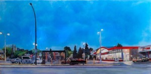 "13th Ave. Safeway, Heather M. Cline, 2012 20"" x 40"" Acrylic/Canvas"