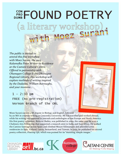 Moez Surani Workshop ORL November 7, 1 pm