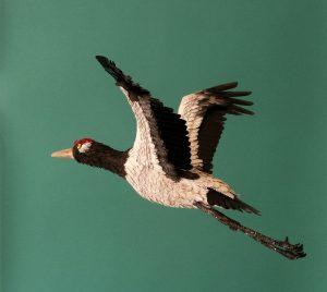 Black-necked crane print psd